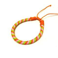 Orange Striped Bracelet-£1 #prettytwisted #bracelet http://prettytwistedonline.co.uk/product/orange-striped-bracelet/