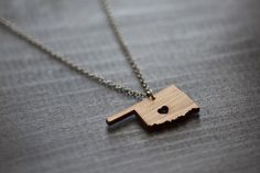 ...this i heart Oklahoma  Bamboo by truche on Etsy, $26.00 GOT IT!