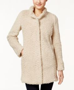 Kenneth Cole Faux-Fur Walker Coat $149.99 This soft and fuzzy walker coat from Kenneth Cole New York offers the style and sophistication of premium faux fur.