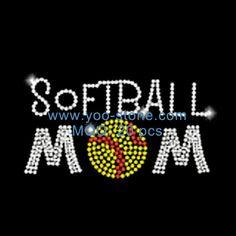 Softball Mom Hot Fix Motif For Garments