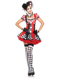 PIN10 for 10% off, Halloween Costume, Harlequin Clown Adult Costume available at Teezerscostumes.com