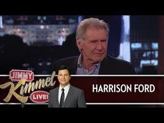 Harrison Ford won't answer #StarWars questions on Jimmy Kimmel Live. He rules.