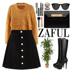 """Zaful"" by oshint ❤ liked on Polyvore featuring Nearly Natural, AG Adriano Goldschmied, Balenciaga, Smoke & Mirrors, Bobbi Brown Cosmetics, Dolce&Gabbana, Chantecaille, Gucci and zaful"
