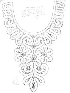 Фотография Lace Necklace, Lace Jewelry, Bobbin Lace Patterns, Sewing Patterns, Irish Crochet, Crochet Lace, Bruges Lace, Crochet Collar, Lacemaking