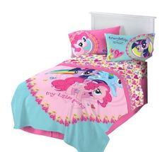Hasbro Microraschel Blanket, 62-Inch by 90-Inch, My Little Pony I Heart Ponies