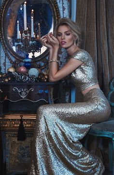 Cara Sequin Two-Piece Gown | formal | dress | photography |