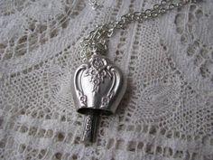 silverware jewelry | Bell Necklace, Flatware Jewelry, Silverware Jewelry, Antique Flatware ...