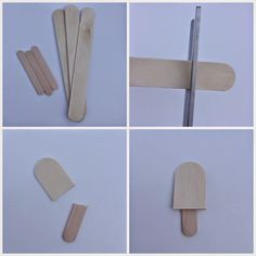 popsicle charm for a bracelet made from popsicle sticks!
