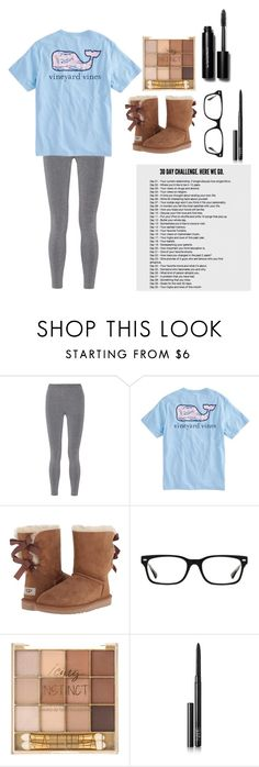 """Day 25"" by cwilkween ❤ liked on Polyvore featuring T By Alexander Wang, Vineyard Vines, UGG Australia, Ray-Ban, NARS Cosmetics, Bobbi Brown Cosmetics and cwilkween"