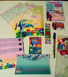 New Vintage Lisa Frank 8 Pack Sea Animal Pencils Rainbow Reef Tropical Dolphins