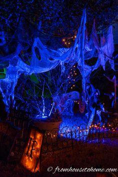 outdoor halloween lighting. Uplighting Ups The Spooky Factor | 7 More Ways To Create Outdoor Halloween Lighting