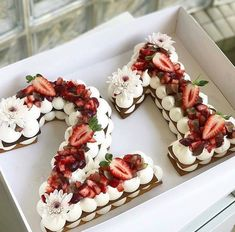 21 shaped birthday cake