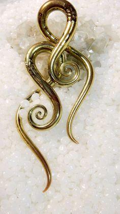 Carved gold glass gauges