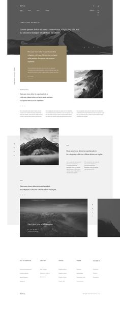 Mountain landing Corporate Website Design, Minimal Website Design, Clean Web Design, Creative Web Design, Website Design Services, Web Design Tips, Web Design Company, Ux Design, Layout Design