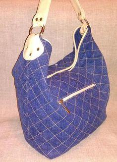 Джинсовая сумка. ручная работа.2