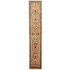 Herat Oriental Persian Hand-knotted Tribal Hamadan Wool Runner (2'5 x 12'2)