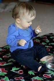 Super Easy Sensory Play: Wet Cotton Balls