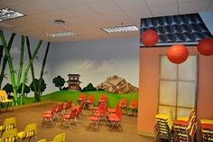 Worlds of Wow - a fun Pre-K themed room for Word of Life Church in Shreveport, LA.
