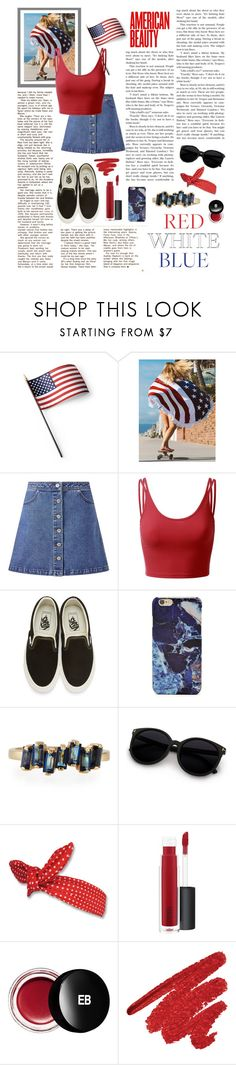 """""""16 ➫ 'murica"""" by reybelle ❤ liked on Polyvore featuring Grandin Road, WithChic, Miss Selfridge, Doublju, Vans, Forever 21, Suzanne Kalan, MAC Cosmetics and Edward Bess"""