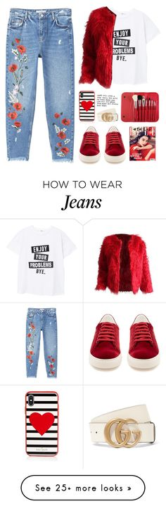 """""""❤️❤️"""" by altrisa-mulla on Polyvore featuring MANGO, Anya Hindmarch, Morphe, Kate Spade and Gucci"""