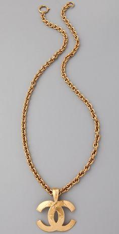 WGACA Vintage Vintage Chanel '94 CC Quilted Necklace