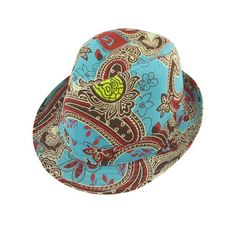 14a7c466aae Unique Bargains Men Women Summer Travel Beach Floral Print Green Red Fedora  Trilby Hat Decor