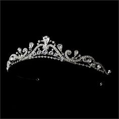 Silver-Tone Clear Wedding Bridal Tiara Headpiece