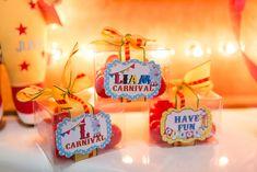 Favor boxes from a Circus Birthday Party on Kara's Party Ideas | KarasPartyIdeas.com (20)