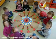 Initiation Mandala avec bouchons
