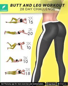 Body Weight Leg Workout, Full Body Gym Workout, Gym Workout Videos, Workout For Flat Stomach, Gym Workout For Beginners, Fitness Workout For Women, Fitness Workouts, Easy Morning Workout, Buttocks Workout