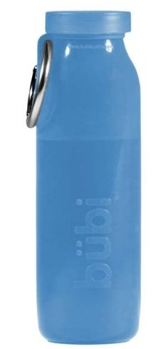 The Bubi Bottle is the world's first scrunchable water bottle. Once you drink your water you can actually roll it up and use the specially designed carabiner tab to secure it in that position. With your 22 oz. bottle folded down to a fraction of its original size, you're free to focus on the adventure at hand.