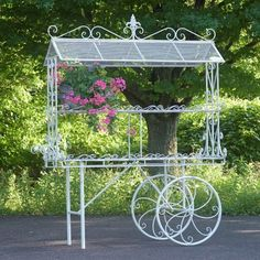 Zaer Ltd International Flower Cart Metal Wheelbarrow Planter #ZaerLtdInternational