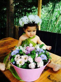 Floral headband baby