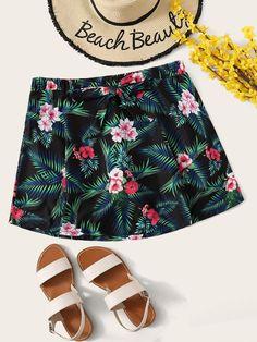 Plus Tropical Swimming Shorts - 1XL