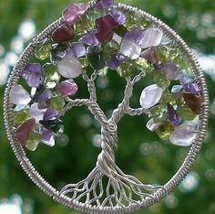 Afbeeldingsresultaat voor wire tree of life pendant tutorial Bijoux Wire Wrap, Wire Wrapped Jewelry, Wire Jewelry, Beaded Jewelry, Handmade Jewelry, Wire Earrings, Candy Jewelry, Gold Jewellery, Wire Crafts