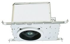 """5"""" Double Wall Airtight IC Housing with thermal protector    Housing With 50W magnetic transformer   For use in direct contact with insulated ceilings.   Housing with thermal protector guards against improper lamping.   Also Pre-wired junction box is provided with 1/2"""" and 3/4"""" knockouts and with removable access plates.   Height 7 1/2"""" allows the use in 2 x 8 ceiling construction   Supplied with captive hanger bars for 24"""" joist spacing and can be repositioned 90°."""