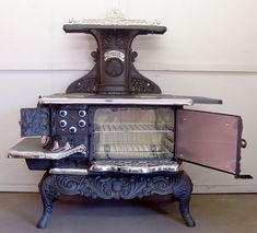 Restored Single Oven Acorn Antique Kitchen Stove With Conversion .
