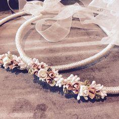 Στέφανα από λουλούδια πορσελάνης nude