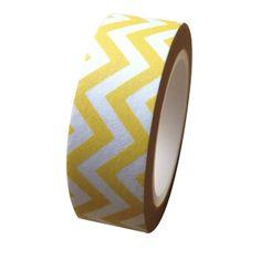 Masking tape zigzag wafel geel   Kekootje.nl