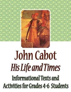 the life and times of john cabot John cabot essay examples an analysis of the discovery of newfoundland by john cabot the life and times of john cabot 474 words 1 page company.