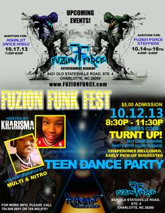Fuzion Funk Fest (October 2013) Hip Hop Dance, October 2013, Upcoming Events, Flyers, Competition, Entertainment, Face, Movie Posters, Instagram