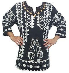 Decoraapparel Mens African Dashiki Shirt Mudcloth Organic Cotton Vintage Hippie Top Blouse One Size African Dashiki Shirt, Dashiki For Men, Vintage Tops, Vintage Men, Hippie Tops, Bohemian Tops, Hippie Vintage, Shirt Blouses, Shirts