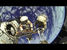 Video Replay: EARTH FROM SPACE - Gopro Video ISS Cosmonauts Carry Out Sp...