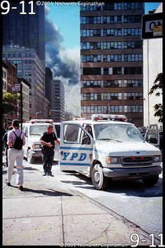 9-11-01 - Attack on the WTC Twin Towers - several blocks north