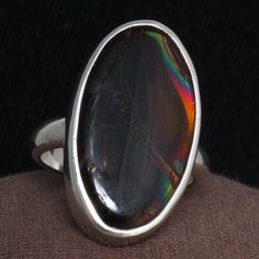 Oregon Fire Obsidian Ring.