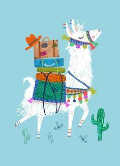 Postcard Lama by Rebecca Jones