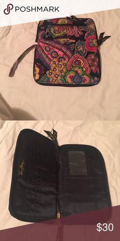 Vera Bradley Wristlet Wallet Beautiful Vera Bradley Wristlet Wallet!!  The colors are really vivid!! Vera Bradley Bags Clutches & Wristlets