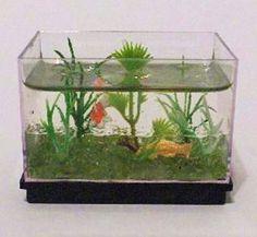Miniature acquarium for the dollhouse DIY