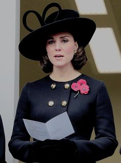 Duchess Catherine attends the Remembrance Sunday ceremony at the Cenotaph on Whitehall in central London.