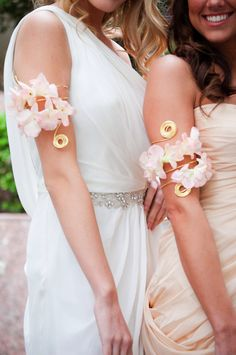 Styling by November Lily, floral arm band design by the Urban Blossom Prom Corsage And Boutonniere, Corsages, Boutonnieres, Wedding Inspiration, Wedding Ideas, Style Inspiration, Candy Cane Decorations, Wedding Attire, Wedding Dresses